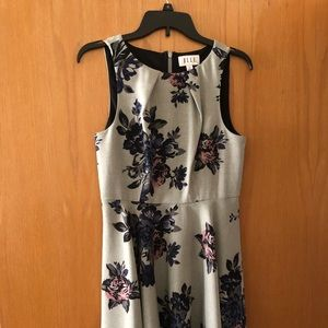 Elle Gray Floral Print Dress